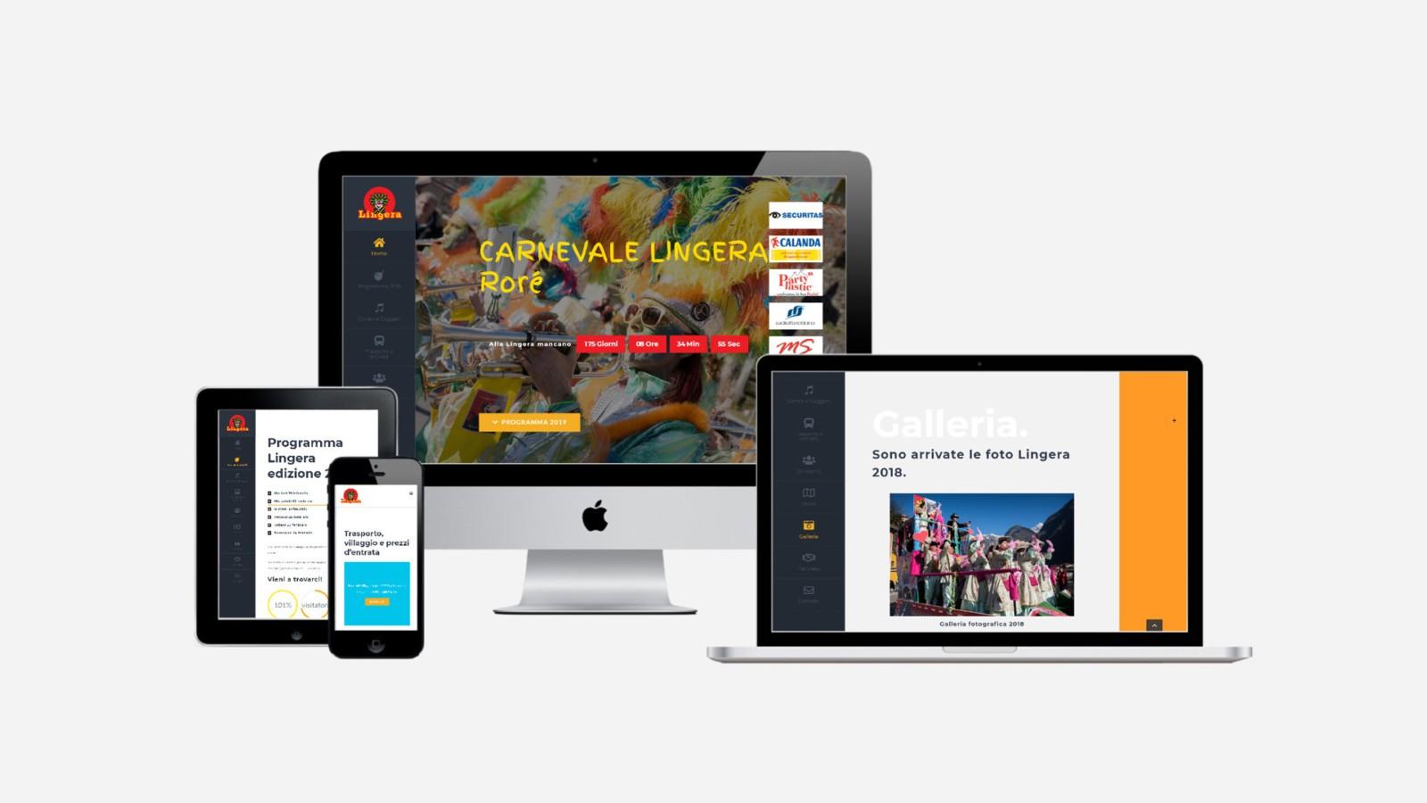 Creazione siti web carnevale Lingera